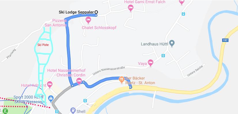 Anreise Lodge Seppaler am Arlberg
